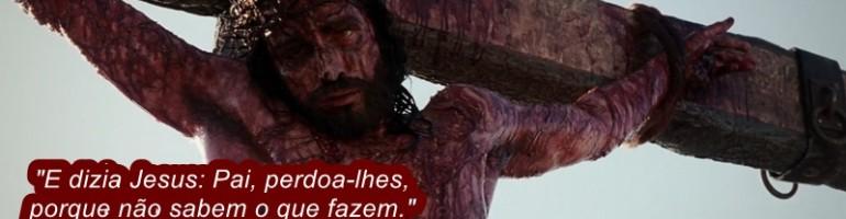 JESUS NA CRUZ ORA POR SEUS INIMIGOS
